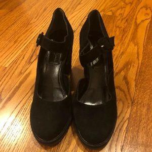 Robert Clergerie Black Suede Wedges Size 9.5